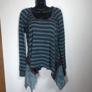 SCRAPBOOK ORIGINALS Long Sleeve Tunic, Size Large